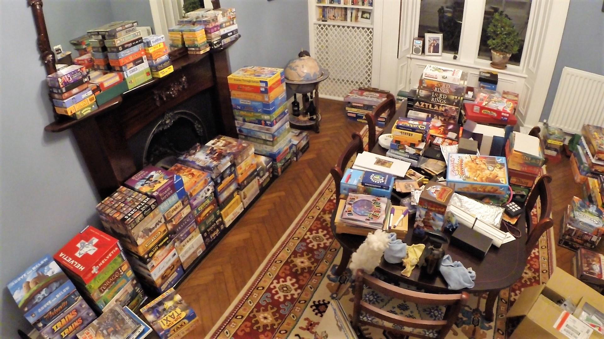 Board games everywhere!