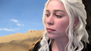 The results of my attempt to recreate the look of Daenerys Targaryen, Mother of Dragons, from Game of Thrones.