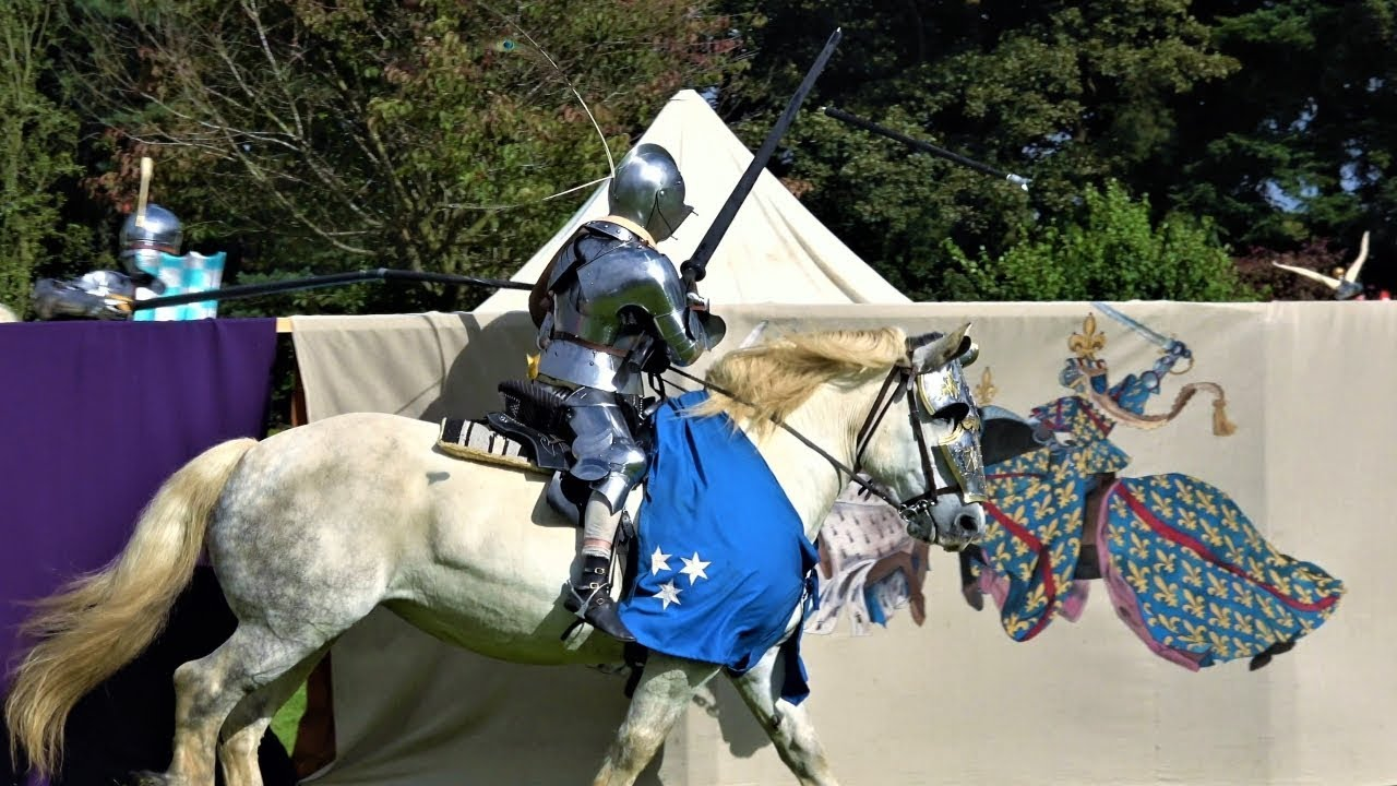 Knight on horseback at Mary Queen of Scots Festival 2017