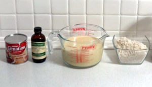 Rice pudding in the Instant Pot requires just 4 ingredients: condensed milk, vanilla extract, milk and pudding rice.