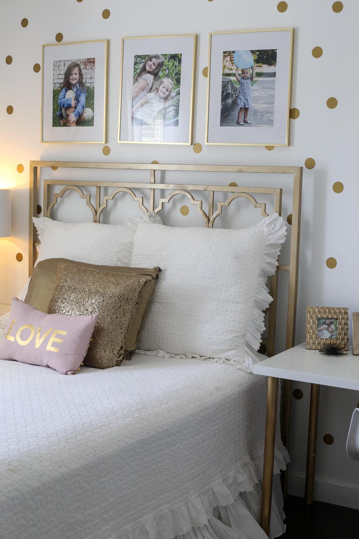 White bedroom set.