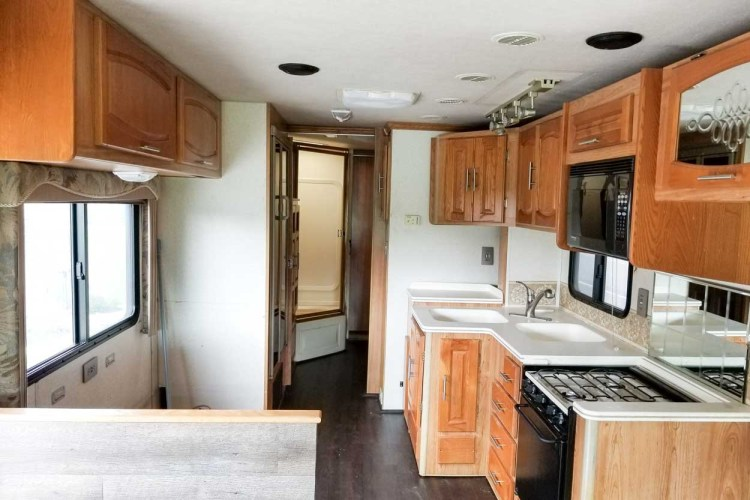 A before picture of the old RV we remodeled.