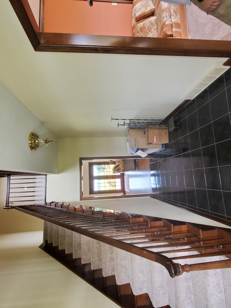 Before image of the foyer