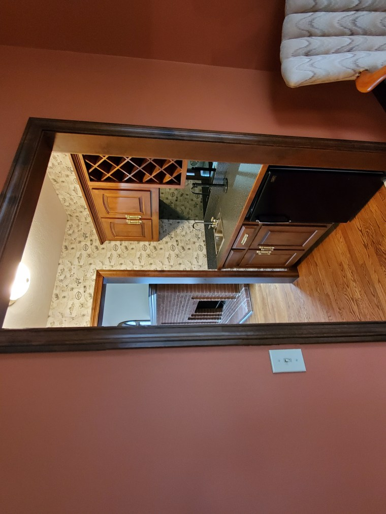 Before image of the wine room.