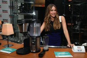 NEW YORK, NY - SEPTEMBER 23:  Sofia Vergara partners with Ninja to launch Ninja Coffee Bar at Andaz Hotel on September 23, 2015 in New York City.  (Photo by Dimitrios Kambouris/Getty Images for Ninja)
