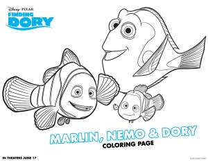 Finding Dory Activity Sheets 1