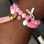 breast cancer bracelets pink ribbon