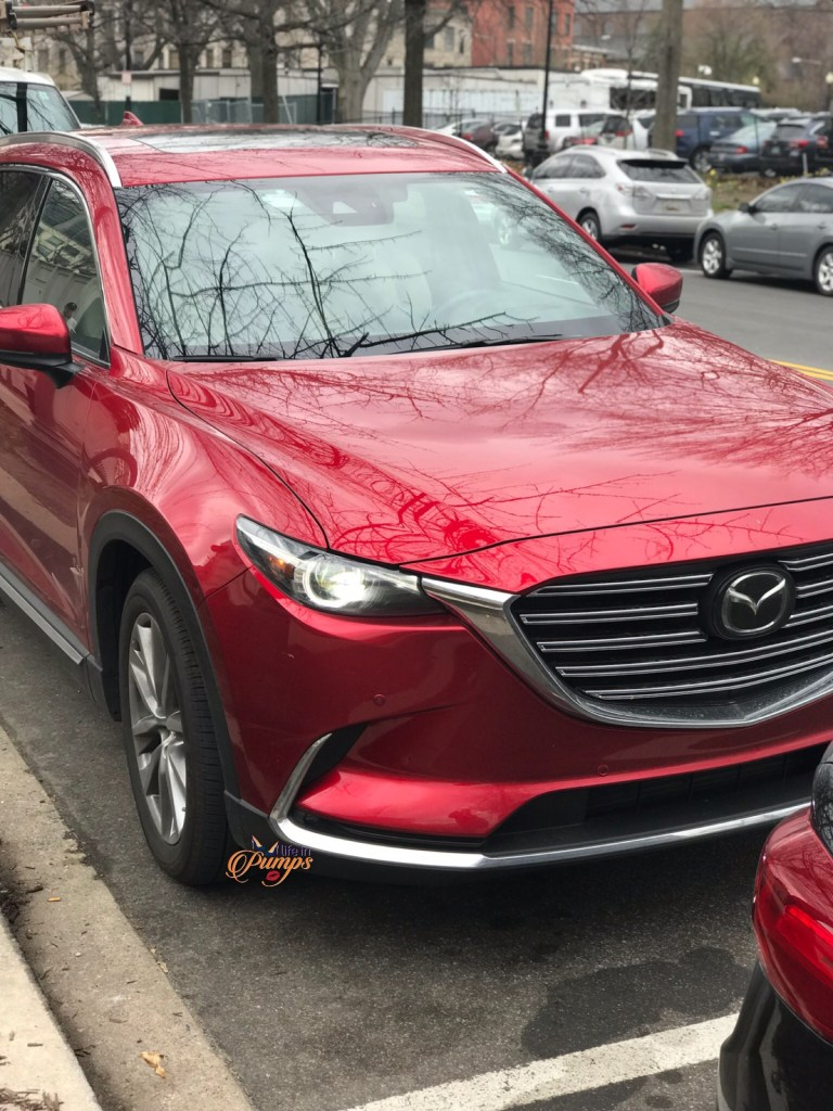 lifein pumps- mazda cx9, family travel, red car