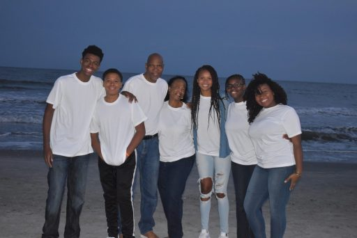 African American Family at Myrtle Beach for Thanksgiving