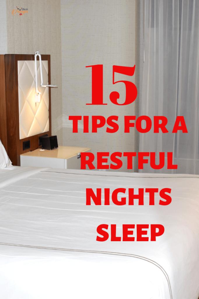 Fifteen Steps to Restful Night of Sleep 1