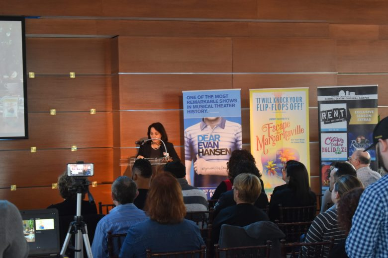 Press conference reading  for the announcement of Kimmel Center Broadway Philadelphia