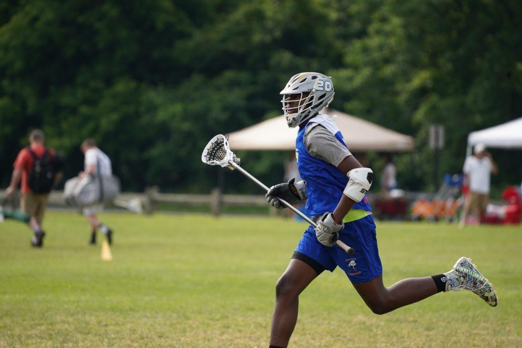 Brown boy of lacrosse. headstrong lacrosse team
