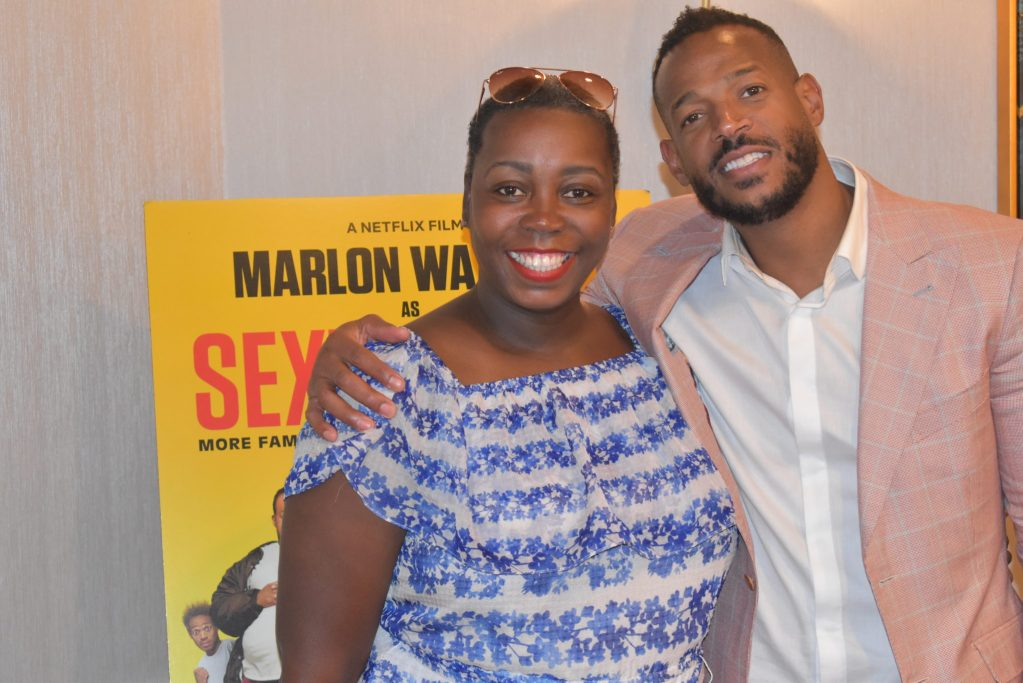 Marlon Fayans visits Philly and is pictured with Journalist Tomika B from Life in Pumps