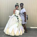 Princess Tiana and her biggest fan at Disney World