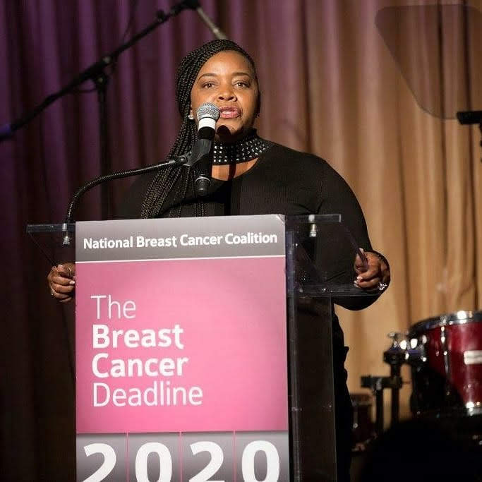 Alysia Pringle being honored by NBCC for breast cancer advocacy