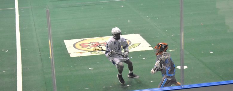 brown boys of box lacrosse at Blue Cross arena in Rochester NY