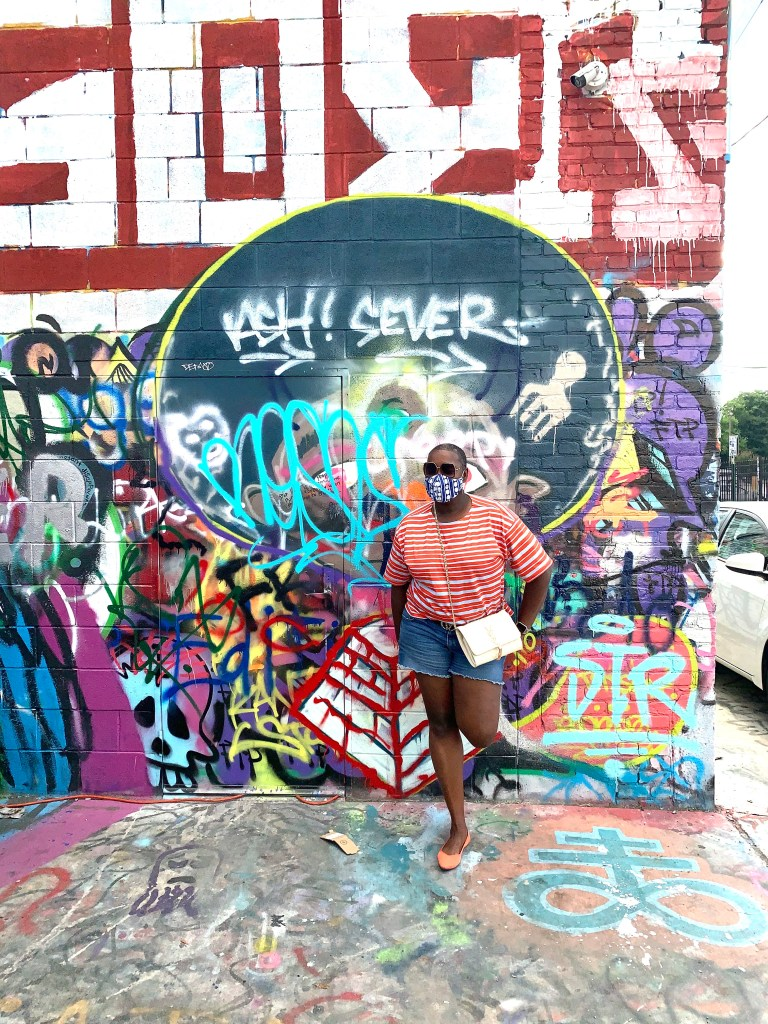 graffiti alley, family road trip, what to do in  Baltimore, brown girl, road trip fashions