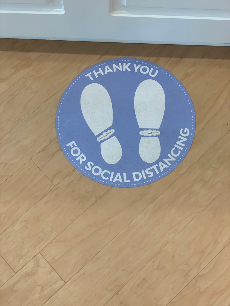social distance reminder for Covid-19 birthday party