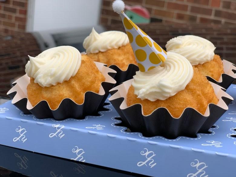 vanilla bundt cakes for birthday party during quarantine