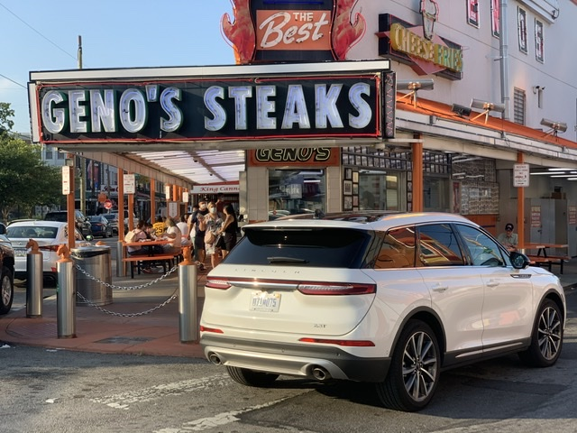 East Passyunk Philly Stroll Lincoln Corsair  Genoas cheesesteak