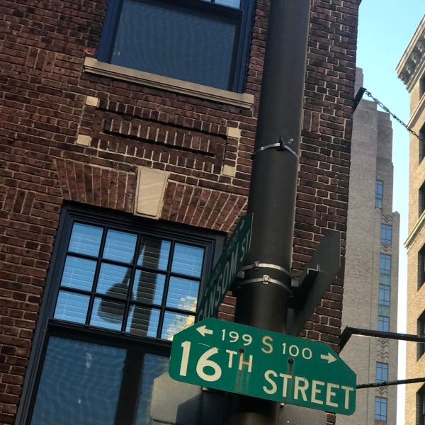 Things to do in Philadelphia. 16th STreet sign