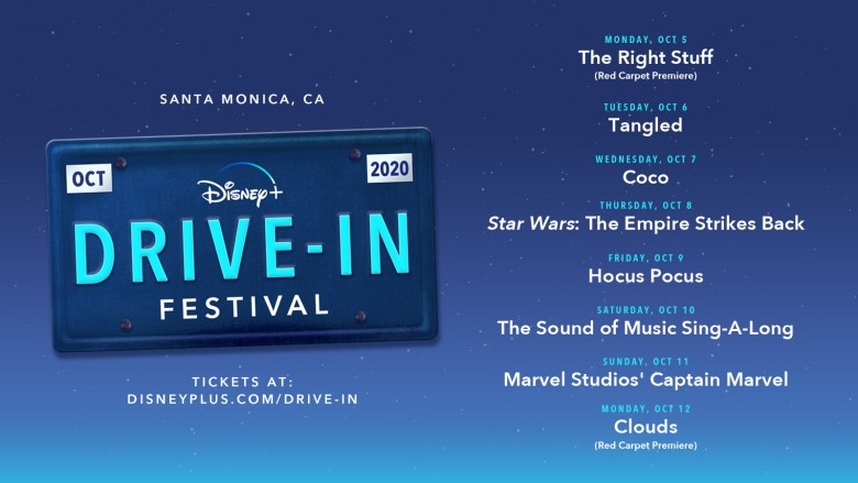 disney+ drive in Disney films Disney+ Disney Plus Film line up