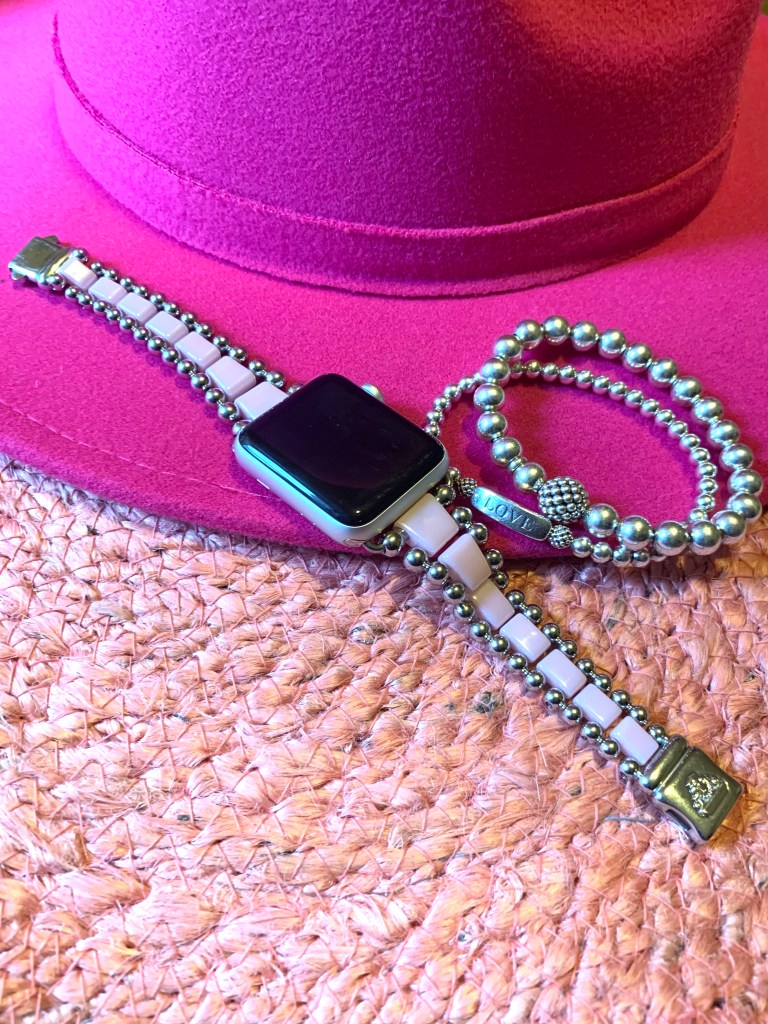 pretty in pink Lagos jewelry and hat