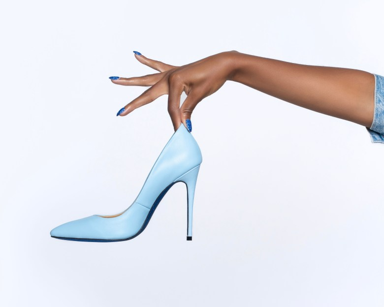 Mela Moore Exclusive Shoes blue bottom black owned business