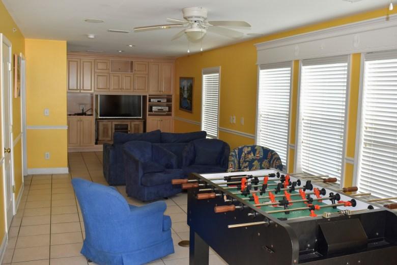 beach home amenities rainy day fun game room