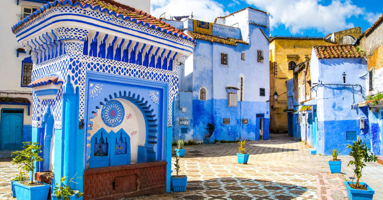 A view of downtown Morocco.