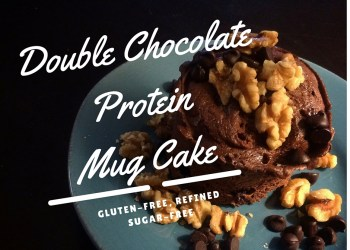 Double Chocolate Walnut Protein Mug Cake