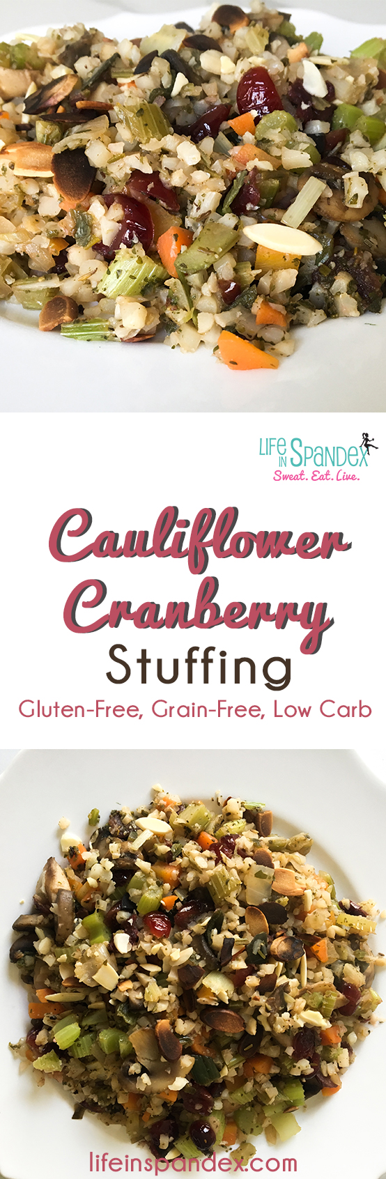 Cauliflower Cranberry Stuffing pinterest