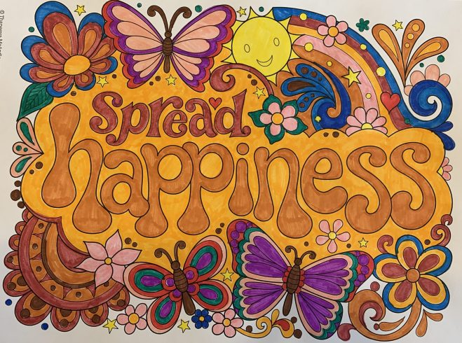 spread happiness coloring page