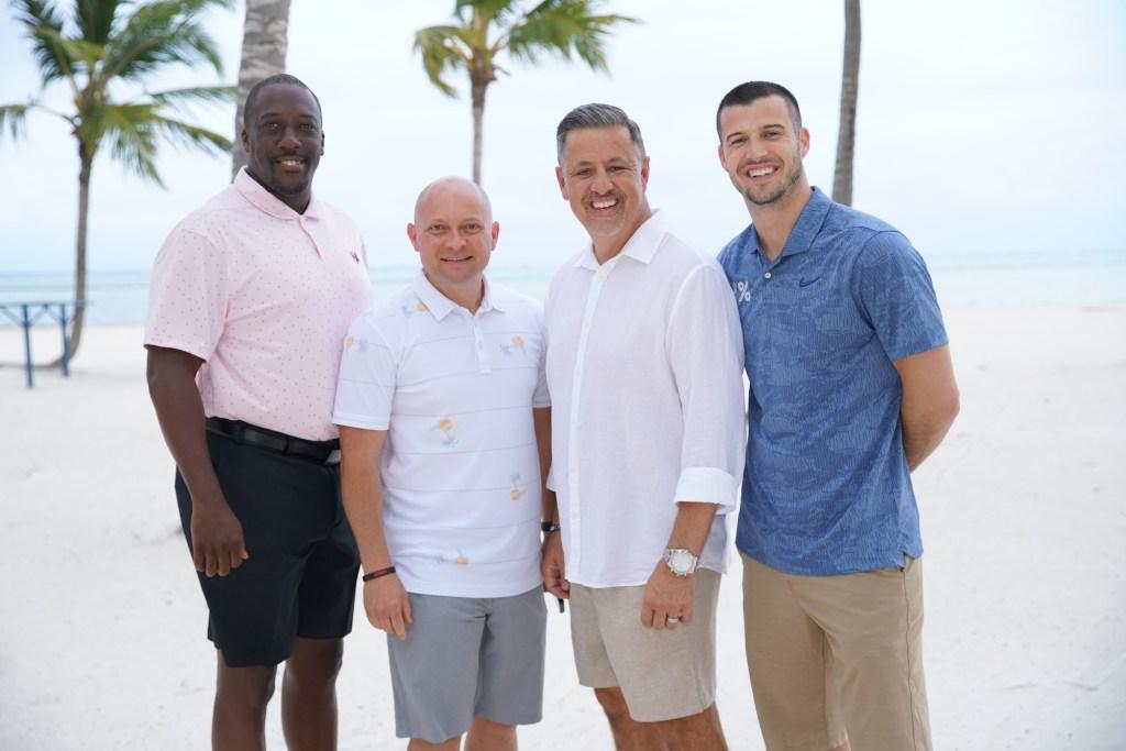 Roger, Cody, Marlin, & Coach Burt