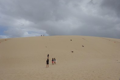 The dune we boarded down