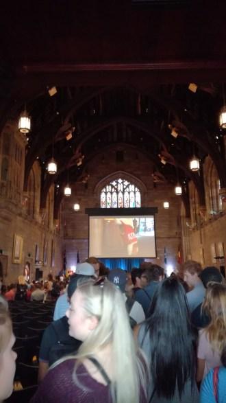 The Great Hall (i.e. Hogwarts)