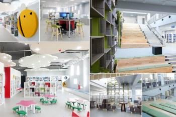 【台南南區】幸福圖書空間|有小孩專區|影音區|上網區|每天報到也不嫌膩~~台南鹽埕圖書館