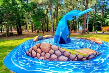 【台南景點】安平的第三隻鯨魚造景在這裡 漁光島上的鯨魚 看見鯨魚尾巴代表幸運的象徵~鯨彩漁光
