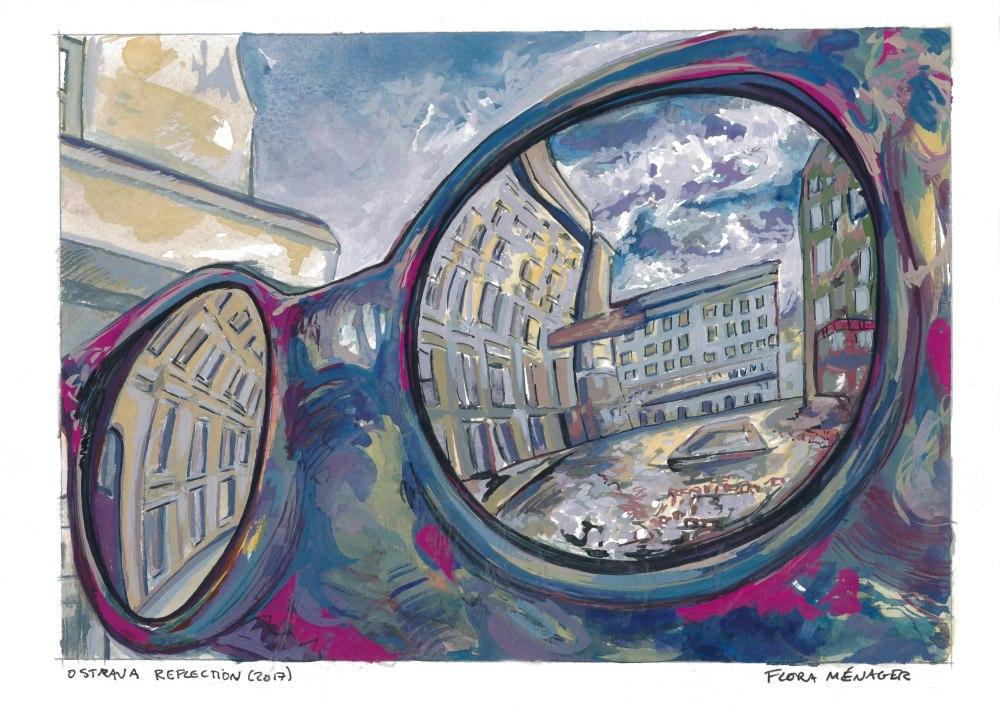 Ostrava-Reflection-Gouache-2017