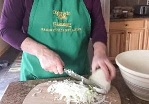 sauerkraut -cutting cabbage