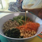 Salad with Sesame Tahini Dressing-