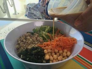 Salad with Sesame Tahini Dressing-