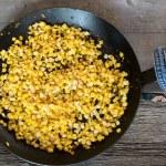skillet of corn