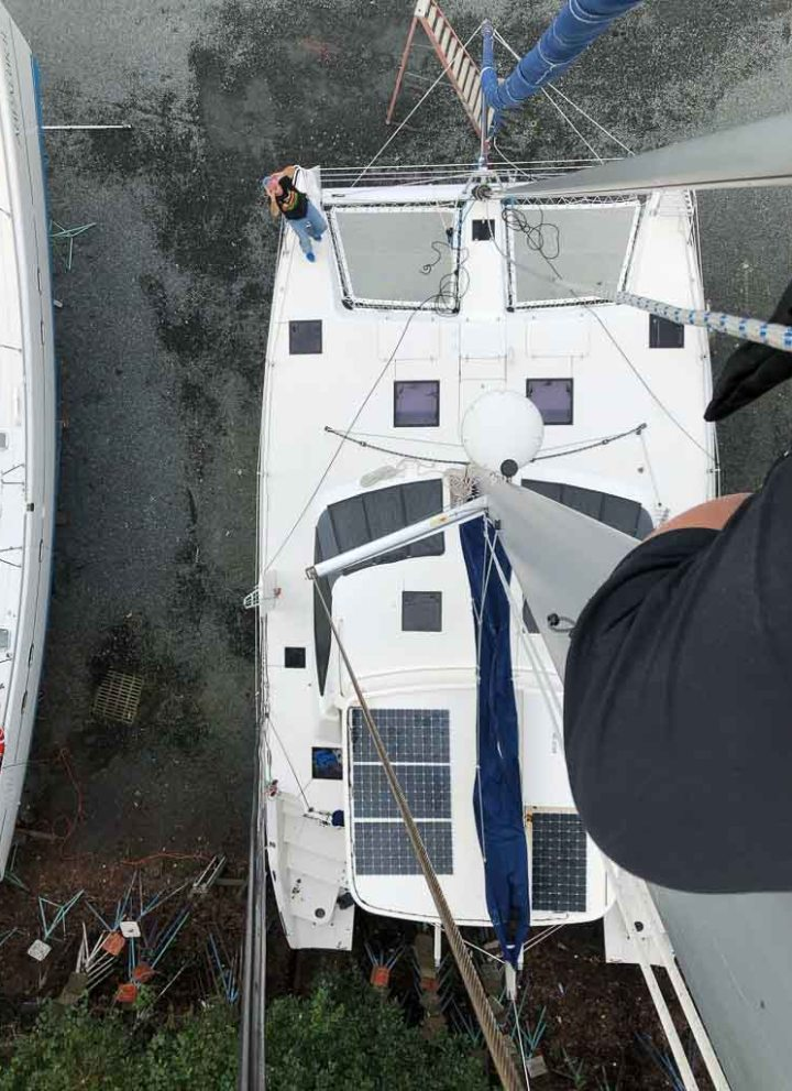 Karen's view from the mast