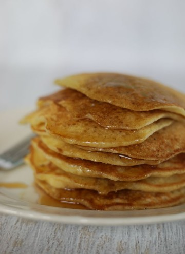 stack of sourdough pancakes