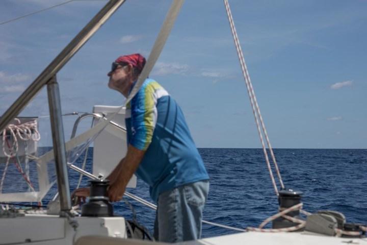 reefing the main sail
