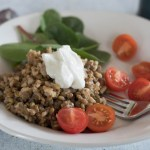 Lentils and Rice with Tangy Yogurt Sauce