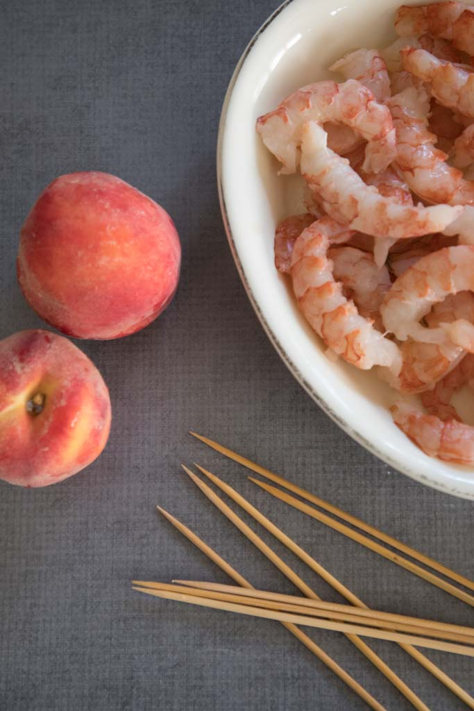 shrimp and peaches