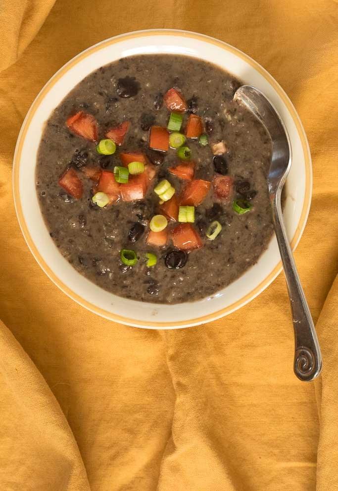 bowl of Best Black Bean Soup