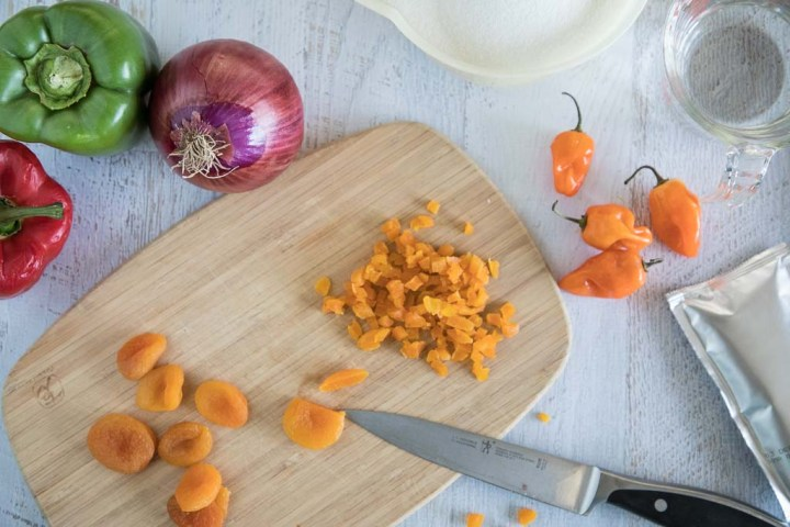 ingredients for habanero apricot jam